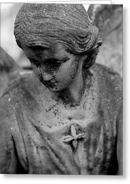 Statue Portrait Greeting Cards - Angels Among Us Greeting Card by Viviana  Nadowski