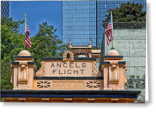 Funicular Greeting Cards - Angels Flight - Los Angeles Greeting Card by Mountain Dreams