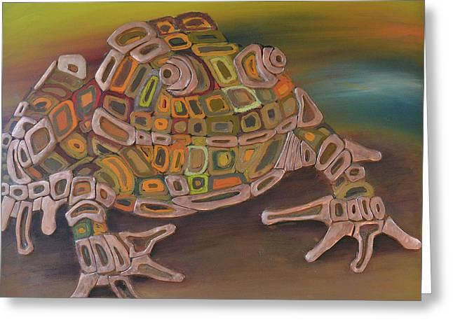 Angels Frog # 2 Greeting Card by Mirek Bialy