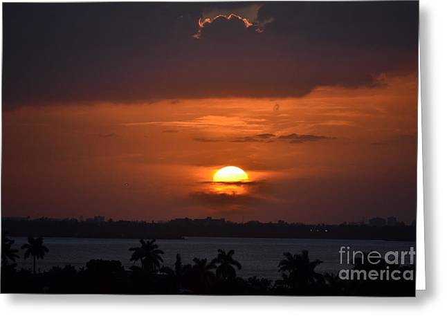 Angel's Head Sunset Greeting Card by Rene Triay Photography