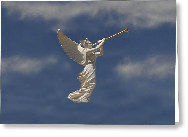 Angels Trumpet Greeting Card by David Lee Thompson