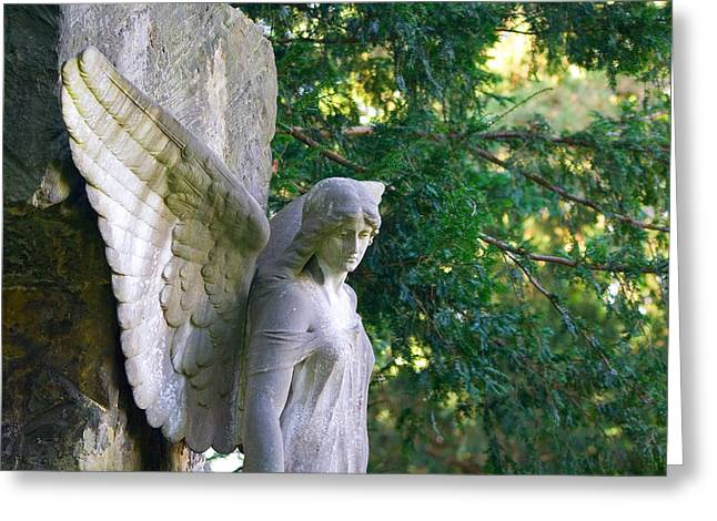 Sorrow Greeting Cards - Angels Wing Greeting Card by Marc Huebner
