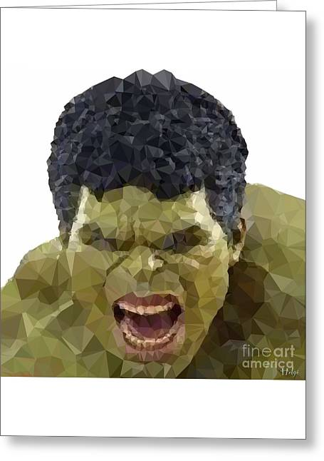 Bruce Banner Greeting Cards - Anger Greeting Card by Helge