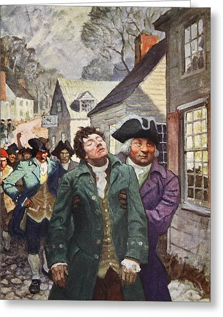 Division Drawings Greeting Cards - Anger splits the country  Greeting Card by Newell Convers Wyeth