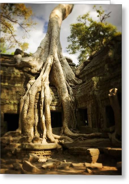 Overgrown Greeting Cards - Angkor Wat Cambodia Greeting Card by Huy Lam