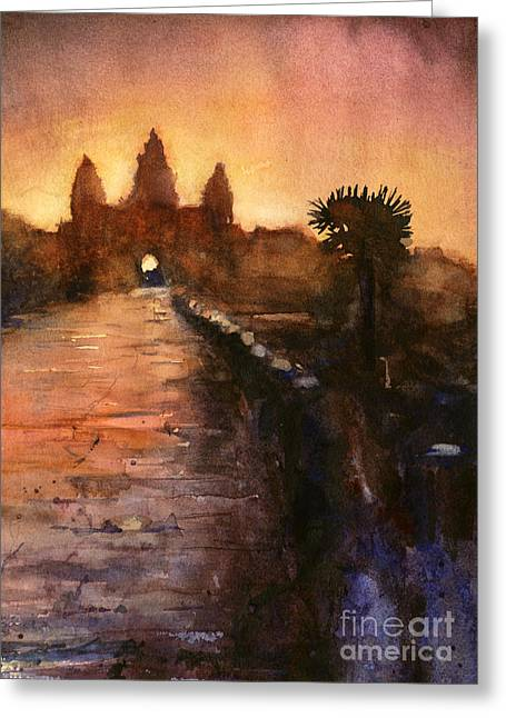 Historical Site Greeting Cards - Angkor Wat Sunrise 2 Greeting Card by Ryan Fox