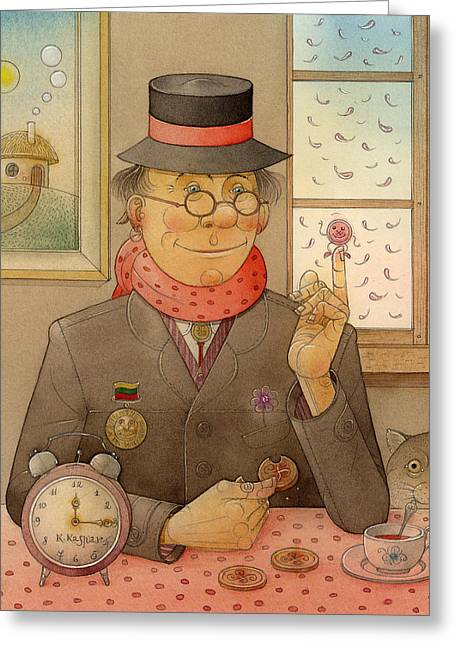 Round Drawings Greeting Cards - Angleman07 Greeting Card by Kestutis Kasparavicius