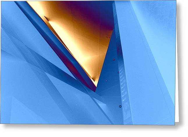 Abstract Shapes Greeting Cards - Angles and Lines Greeting Card by Bobbie Barth