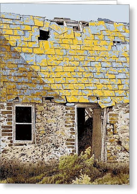 Outbuildings Greeting Cards - Anglesey farm Greeting Card by Alwyn Dempster Jones
