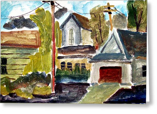 Anglican Rectory Back Alleyway Greeting Card by Charlie Spear