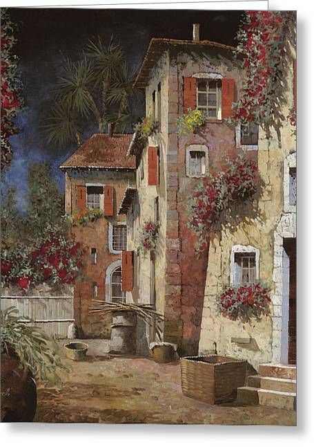 Red Doors Greeting Cards - Angolo Buio Greeting Card by Guido Borelli