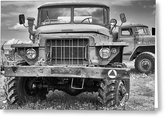 Rusted Cars Greeting Cards - Angry Grandpa Greeting Card by Tgchan