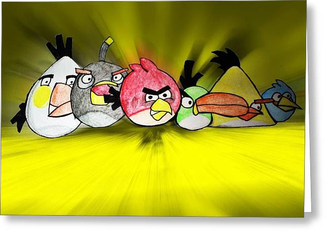 Angry Greeting Cards - Angry Greeting Card by Sharon Lisa Clarke
