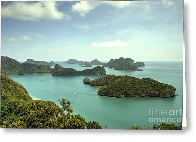 Angthong Greeting Cards - Angthong Archipelago  Greeting Card by Rob Hawkins