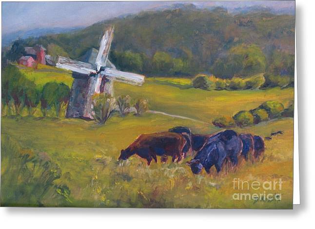 Fed Greeting Cards - Angus on the Ridge Greeting Card by B Rossitto