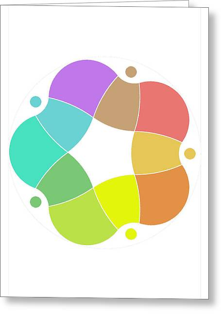Coloured Greeting Cards - Anillo Greeting Card by Francisco Rodriguez