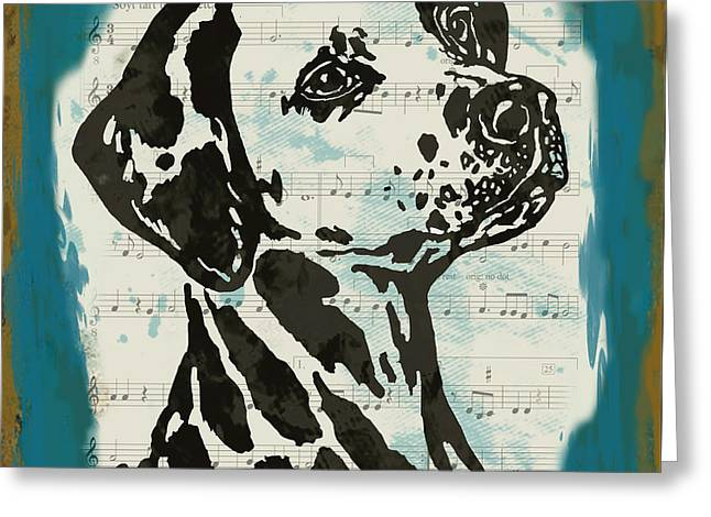 Animal Pop Art Etching Poster - Dog  14 Greeting Card by Kim Wang