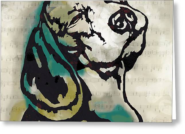 Animal Pop Art Etching Poster - Dog  16 Greeting Card by Kim Wang