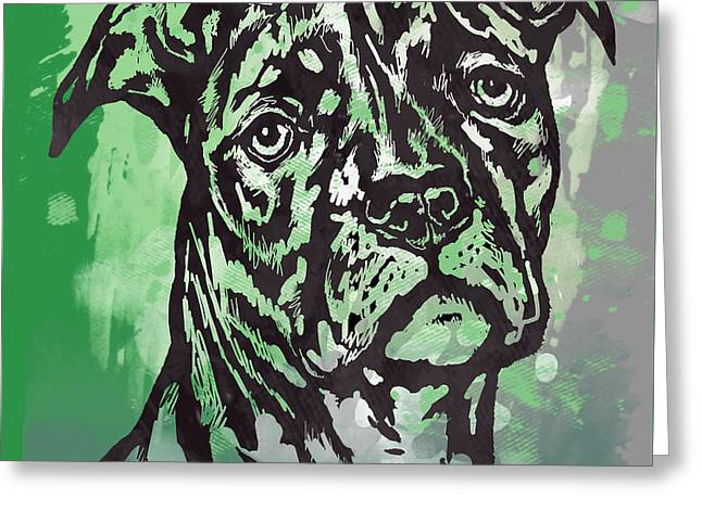 Animal Pop Art Etching Poster - Dog  17 Greeting Card by Kim Wang