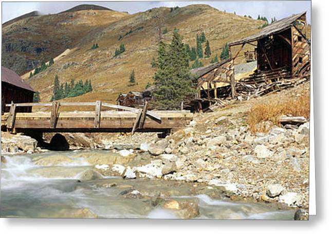 West Fork Greeting Cards - Animas Forks Ghost Town, Colorado Greeting Card by Panoramic Images