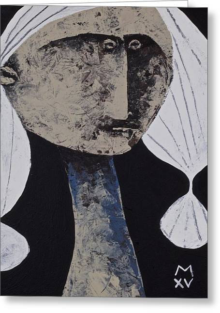 Outsider Art Mixed Media Greeting Cards - ANIMUS No. 71  Greeting Card by Mark M  Mellon