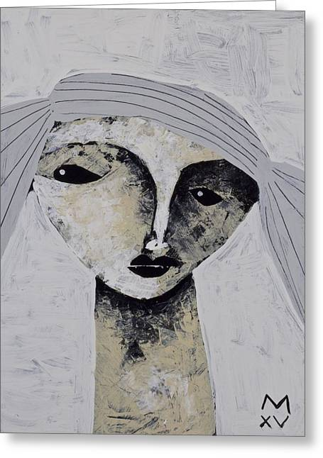Outsider Art Mixed Media Greeting Cards - ANIMUS No. 77 Greeting Card by Mark M  Mellon