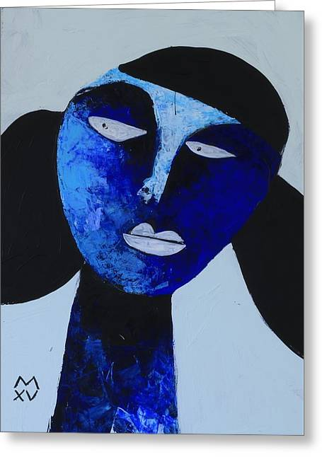 Outsider Art Mixed Media Greeting Cards - ANIMUS No. 81 Greeting Card by Mark M  Mellon