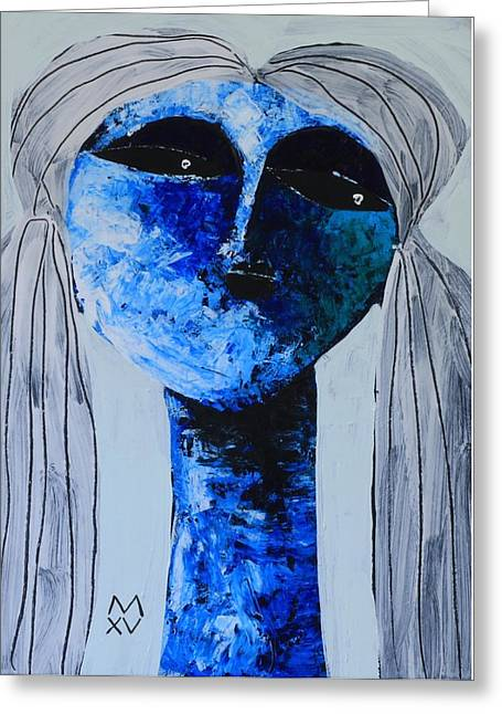 Outsider Art Mixed Media Greeting Cards - ANIMUS No. 82  Greeting Card by Mark M  Mellon