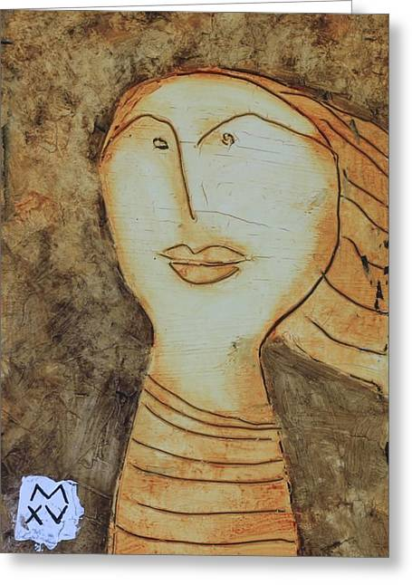 Cubist Mixed Media Greeting Cards - ANIMUS No. 83 Greeting Card by Mark M  Mellon