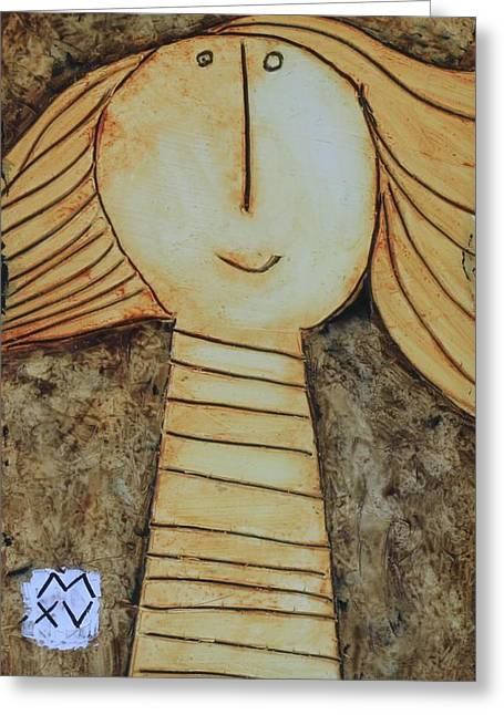 Cubist Mixed Media Greeting Cards - ANIMUS No. 84 Greeting Card by Mark M  Mellon