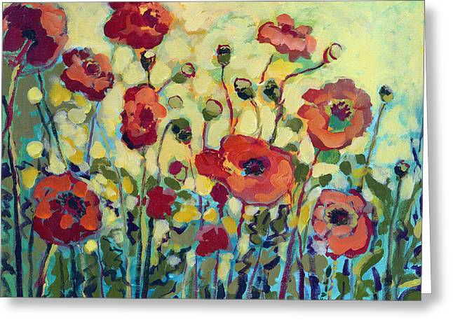 Jennifer Lommers Greeting Cards - Anitas Poppies Greeting Card by Jennifer Lommers