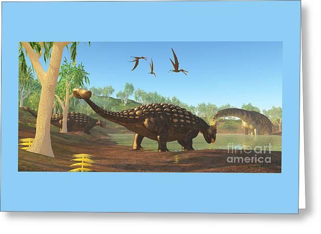 Ankylosaurus Greeting Card by Corey Ford
