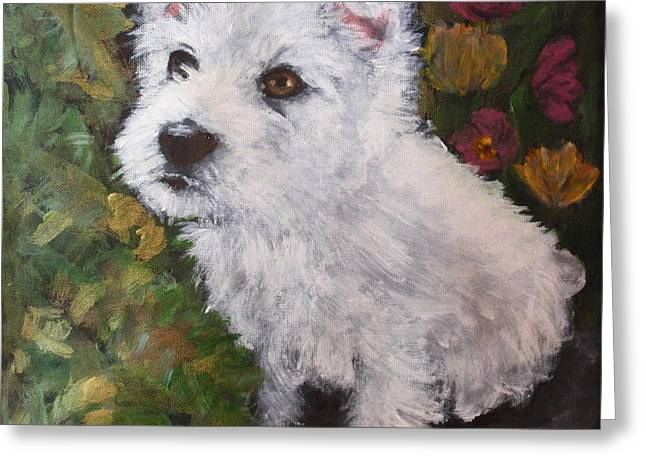 Toy Dog Greeting Cards - Anna Belle Greeting Card by Carol Russell