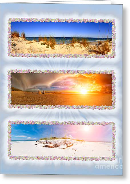 Anna Maria Island Greeting Cards - Anna Maria Island Beach Collage Greeting Card by Rolf Bertram
