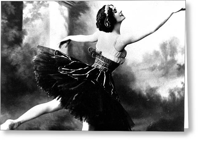 Black And White Photos Greeting Cards - Anna Pavlova Greeting Card by French School