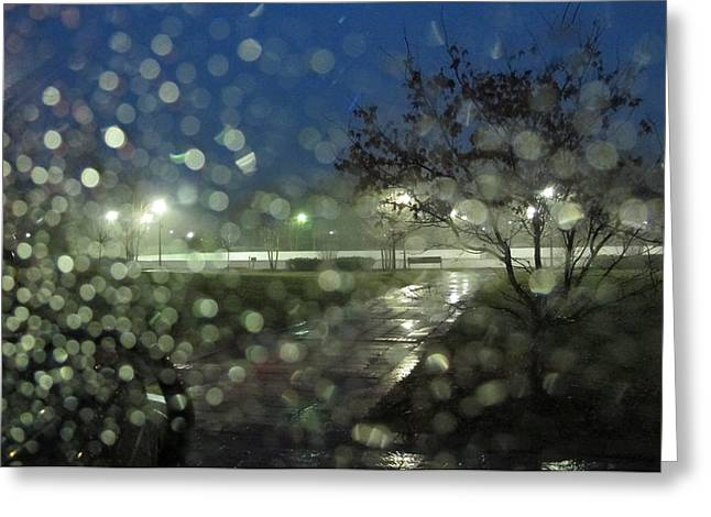 Raining Pyrography Greeting Cards - Annapolis After The Rain Greeting Card by Valia Bradshaw