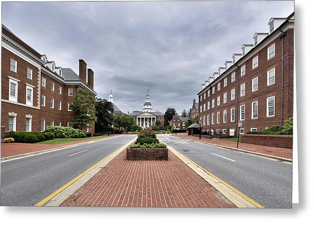Annapolis Md Greeting Cards - Annapolis Maryland  Greeting Card by Brendan Reals