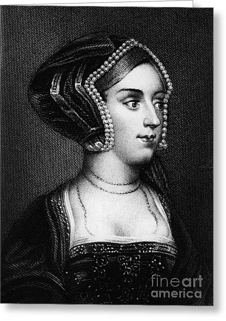 Treason Greeting Cards - Anne Boleyn, Queen Of England Greeting Card by Photo Researchers