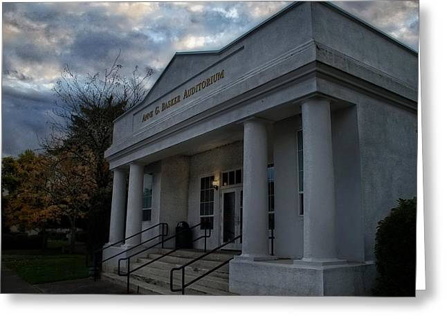 Mick Anderson Greeting Cards - Anne G Basker Auditorium in Grants Pass Greeting Card by Mick Anderson
