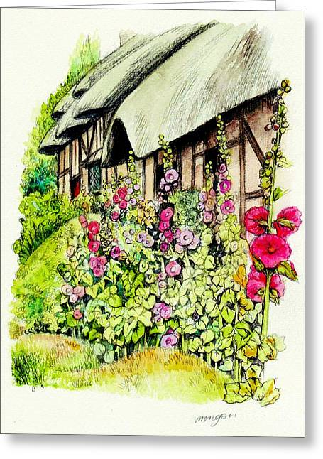 Anne Hathaway Cottage Greeting Card by Morgan Fitzsimons