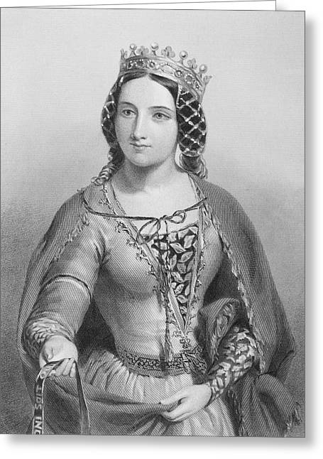 Anne Of Warwick, Anne Neville Greeting Card by Vintage Design Pics