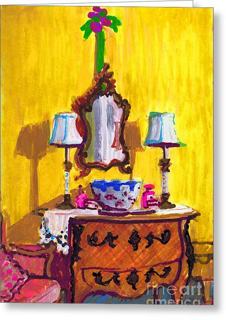 Design Bureau Greeting Cards - Annes Bureau  Greeting Card by Candace Lovely