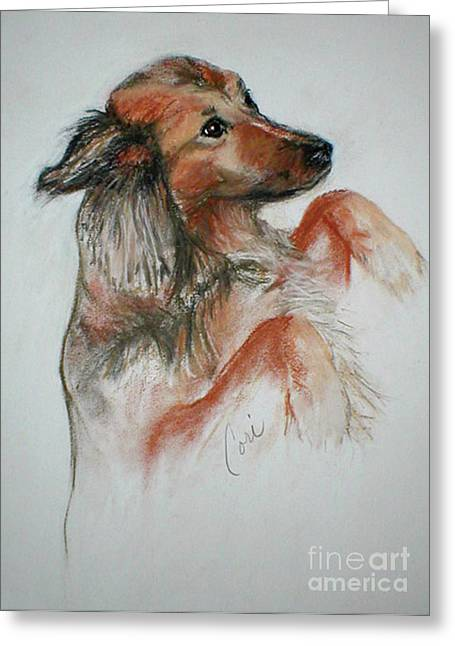 Puppies Pastels Greeting Cards - Annie Greeting Card by Cori Solomon