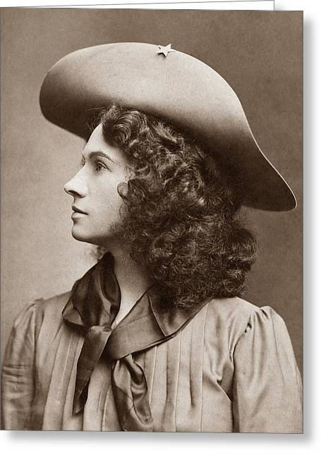 Annie Oakley - Little Sure Shot Greeting Card by War Is Hell Store