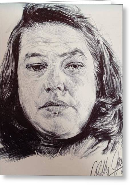 Bates Drawings Greeting Cards - Annie Wilkes Greeting Card by Billy Jackson