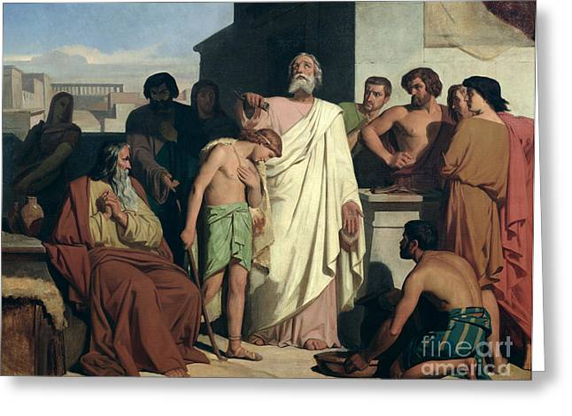 Annointing of David by Saul Greeting Card by Felix-Joseph Barrias
