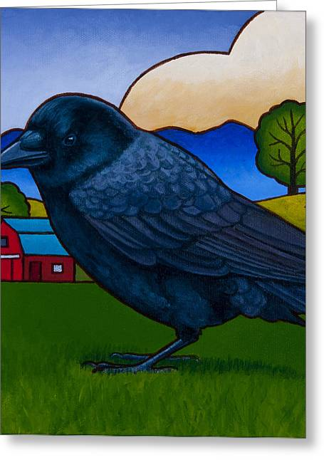 Anns Crow Greeting Card by Stacey Neumiller