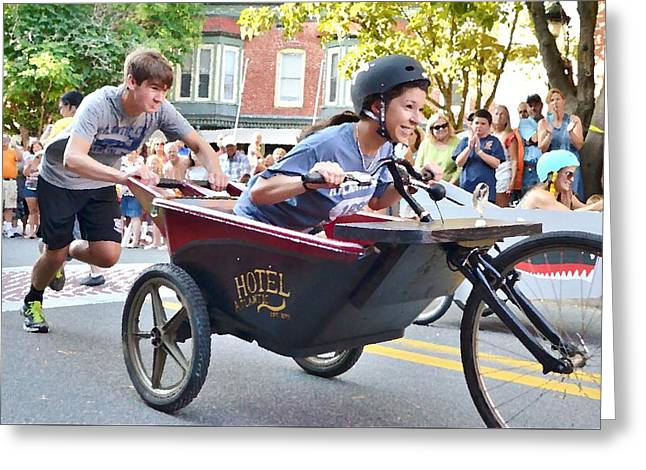 Kim Photographs Greeting Cards - Annual Bathtub Race - Berlin Maryland Greeting Card by Kim Bemis