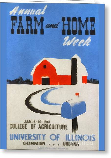 Annual Farm And Home Week Vintage Poster Greeting Card by Edward Fielding