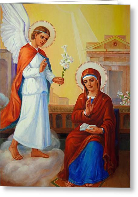 Annonciation Greeting Cards - Annunciation of the Lord - Annuntiatio Domini  Greeting Card by Svitozar Nenyuk